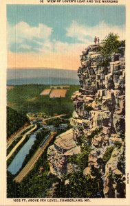Maryland Cumberland Lover's Leap and The Narrows Curteich