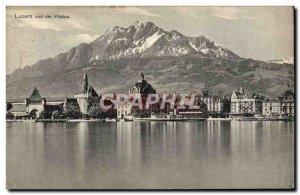 Old Postcard Luzern Und Der Pilatus Boat