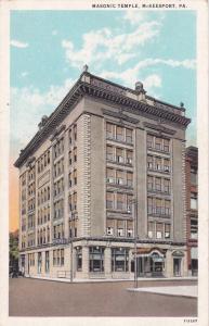 McKEESPORT, Pennsylvania, 10s-20s; Masonic Temple