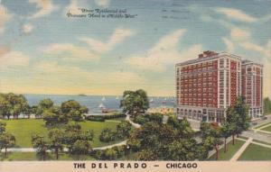 Illinois Chicago The Del Prado Hotel 1949 Curteich