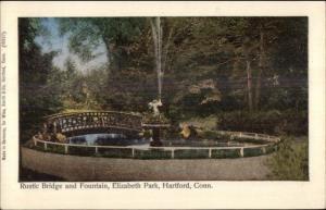Hartford CT Bridge & Fountain c1905 Reichner Bros Postcard