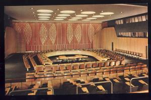 United Nations Postcard, New York/NY, Economic Chamber