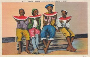Black Americana ; Negro Heben - A Watermelon Feast in Dixie, 30-40s