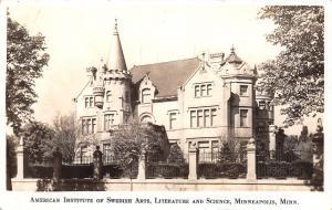Minneapolis MN~American Institute of Swedish Arts~Literature & Science~1920 RPPC