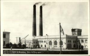 Puerto Belgrano Argentina Casade Bombas Real Photo Postcard c1920s-30s