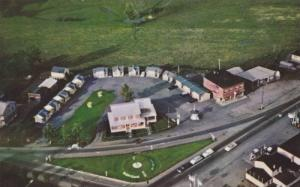 Aerial View, Durand's Cabins & Motel, Ste. Monique Des Saules, Quebec, Canada...