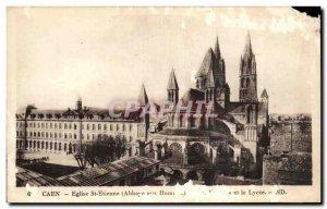 Old Postcard Caen Church St Etienne Abbey To Men