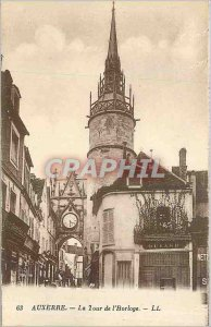 Modern Postcard Auxerre The Clock Tower