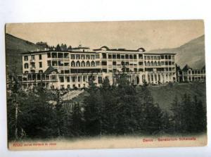 147415 SWITZERLAND DAVOS Sanatorium Schatzalp Vintage postcard