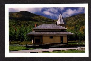 NH Crawford Notch Railroad Train Depot Station New Hampshire Postcard RR PC