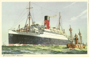Cunard Line Steamer R.M.S. Royal Mail Steamer Ascania (1940s)