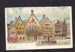 FRANKFURT GERMANY A.M. DER ROMER ARTIST SIGNED 1901 ANTIQUE VINTAGE POSTCARD