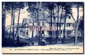 Old Postcard Le Touquet Paris Plage cottage Mag Pie