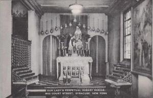New York Syracuse Our Ladys Perpetual Rosary Shrine 802 Court Street