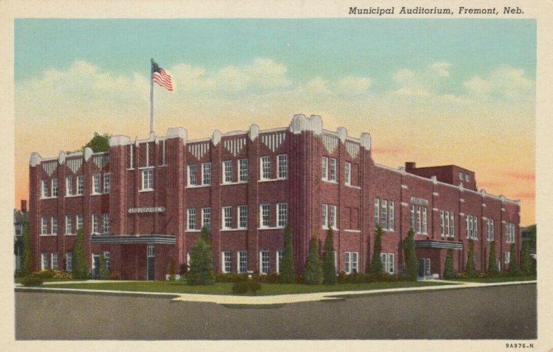 Fremont , Nebraska , 1910s ; Municipal Auditorium