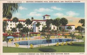 Florida Daytona The Riviera With Swimming Pool Curteich