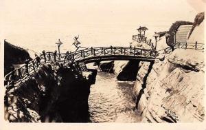 La Jolla California Point Loma Sunset Cliff Real Photo Antique Postcard J81018
