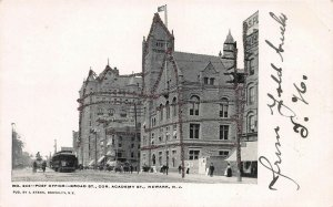 Post Office, Broad St. & Academy St., Newark, N.J., Very Early Postcard