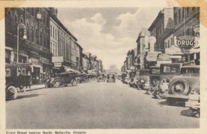 BELLEVILLE , Ontario , 1930s ; Front Street looking North, Drug Store