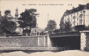 PANTIN , Seine Saint Denis , France , 00-10s ; Le Pont et'Hotel de Ville