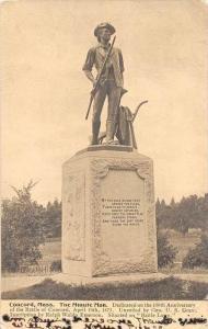 Massachusetts  Concord    The Minute Man
