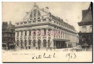 Old Postcard The Lille Theater