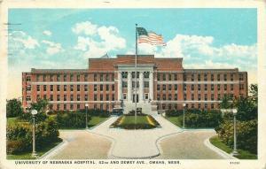 Omaha Nebraska~University of Nebraska Hospital~42nd & Dewey~1926 Postcard