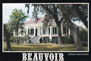 BILOXI, Mississippi,1950-60s; Beauvoir Jefferson Davis Shrine
