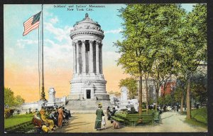 Soldiers & Sailors Monument New York New York Unused c1910s