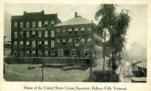 VT - Bellows Falls. Home of the U.S. Cream Separator (VT Farm Machine Co)
