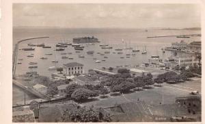Bahia Brazil Harbor Birds Eye View Real Photo Antique Non Postcard Back J75818