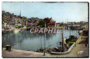 Modern Postcard Honfleur The Vieux Bassin Baetaux