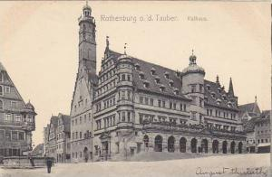 Rathaus, Rothenburg ob der Tauber, Bavaria, Germany, 1900-1910s