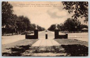 Kearney Nebraska~Teachers College Gate on Lincoln Highway~Route 30~1930s Artvue