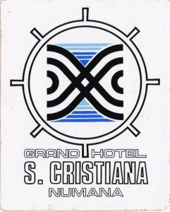 Italy Numana Grand Hotel San Cristiana Vintage Luggage Label sk2318