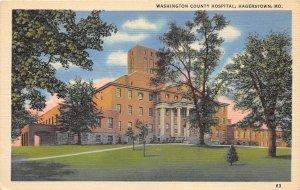 Hagerstown Maryland 1940s Postcard Washington County Hospital