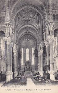 LYON, Rhone, France, 1900-1910's; Interieur De La Basilique De N.D. De Fourviere