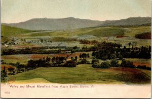 Stowe, VT - MOUNT MANSFIELD & VALLEY - FARM HOUSES VINTAGE POSTCARD