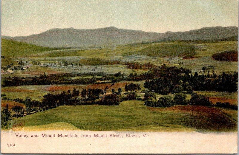 Stowe, VT - MOUNT MANSFIELD & VALLEY - FARM HOUSES VINTAGE POSTCARD