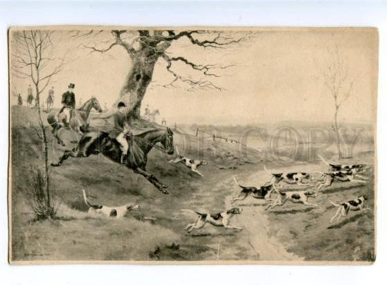 178191 Fox hunting with dogs HORSE ROWLANDSON vintage