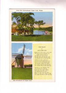 Twoview, Homestead, Windmill, Poem Peace of Cape Cod Massachusetts, New Bedfo...