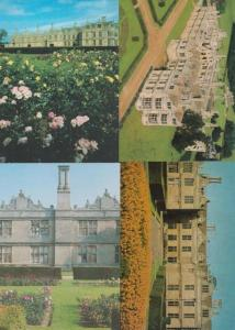 Kirby Hall Northampton 4x Rare Postcard incl Aerial Gardens Grounds all Mint