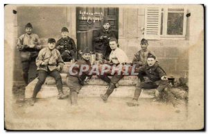PHOTO CARD Army Soldiers Red Cross Red cross