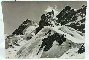 Vintage RP Postcard Jungfraujoch Meteorological Station Rottalhorn Real Photo