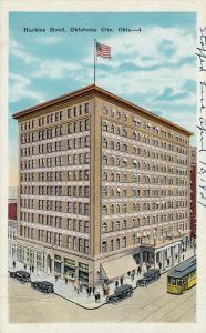 Huckins Hotel, Street Car, Oklahoma City, Oklahoma, 10-20s