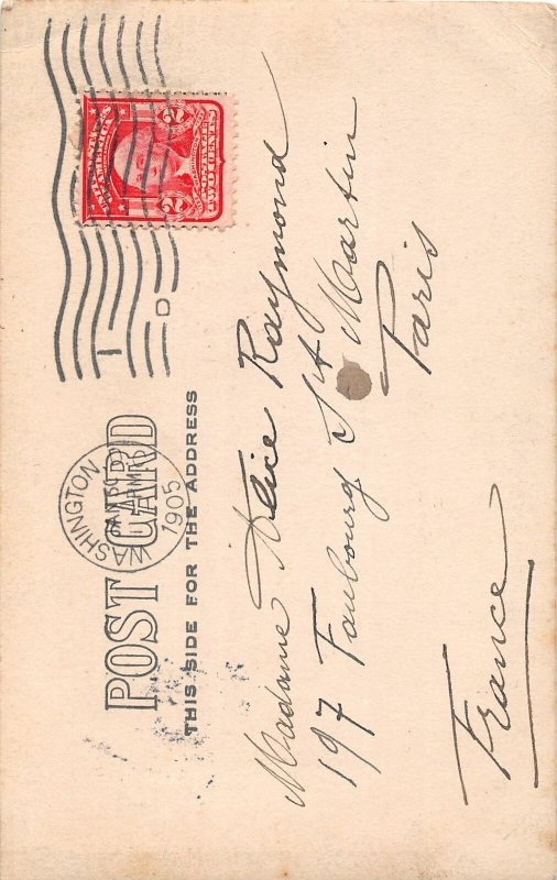 H78/ Washington D.C. RPPC Postcard 1905 U.S. Capitol Building Man191