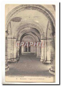 Auxerre Old Postcard Crypt of the cathedral