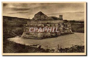 Old Postcard Monument to high Carrefour Saint Fine by Avance Army Division As...