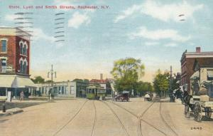 Trolley Horse Carriage at State, Lyell, and Smith Streets Rochester New York