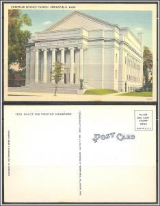 Massachusetts, Springfield First Christian Science Church - [MA-550]